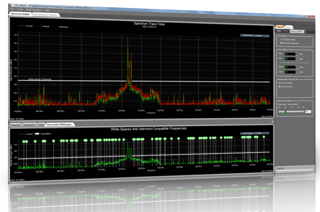 Clear Waves RF Spectrum Analyzer Software