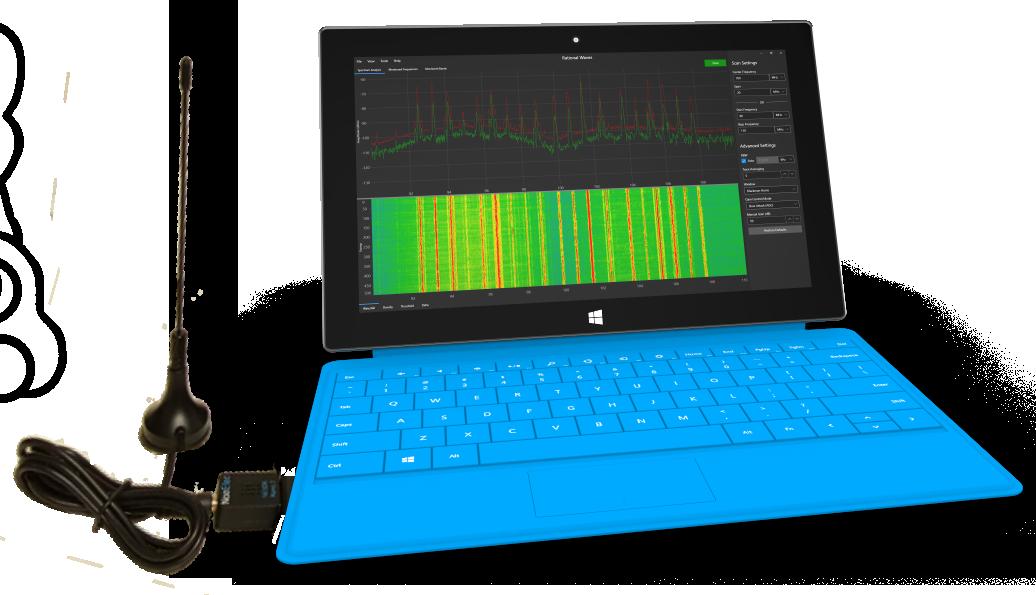 Rational Waves RF Spectrum Analyzer Software