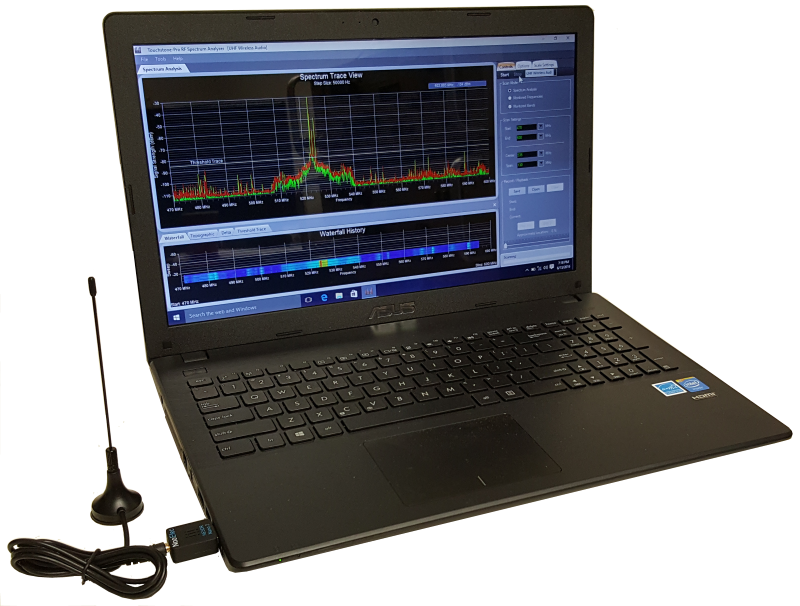 RF Viewer — Low-Cost, Wireless USB Dongle, RF Spectrum Analyzer